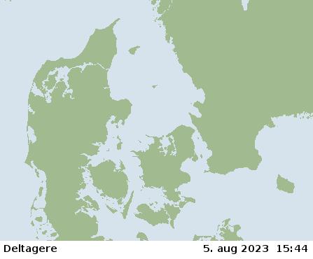 The average wind around Denmark