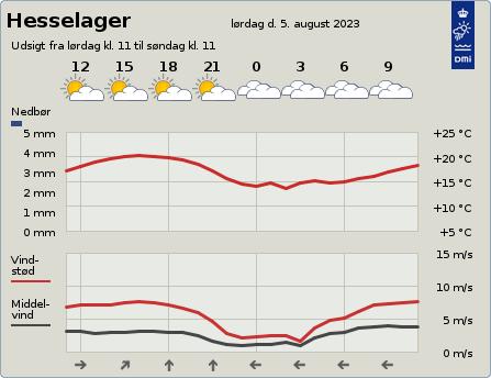 byvejr verdensvejr 5874 Danmark