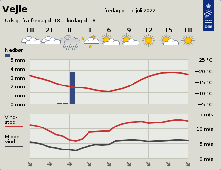 byvejr verdensvejr 7100 Vejle,Danmark